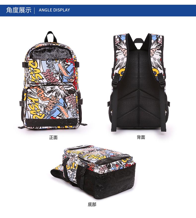 帆布双肩包女韩版潮大容量旅行包揹包双肩书包电脑包详细照片