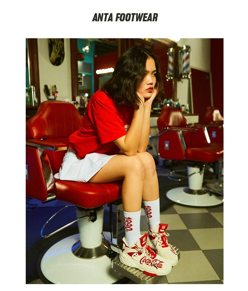 安踏可口可乐联名款男鞋春季新款情侣运动鞋官网旗舰休閒板鞋详细照片