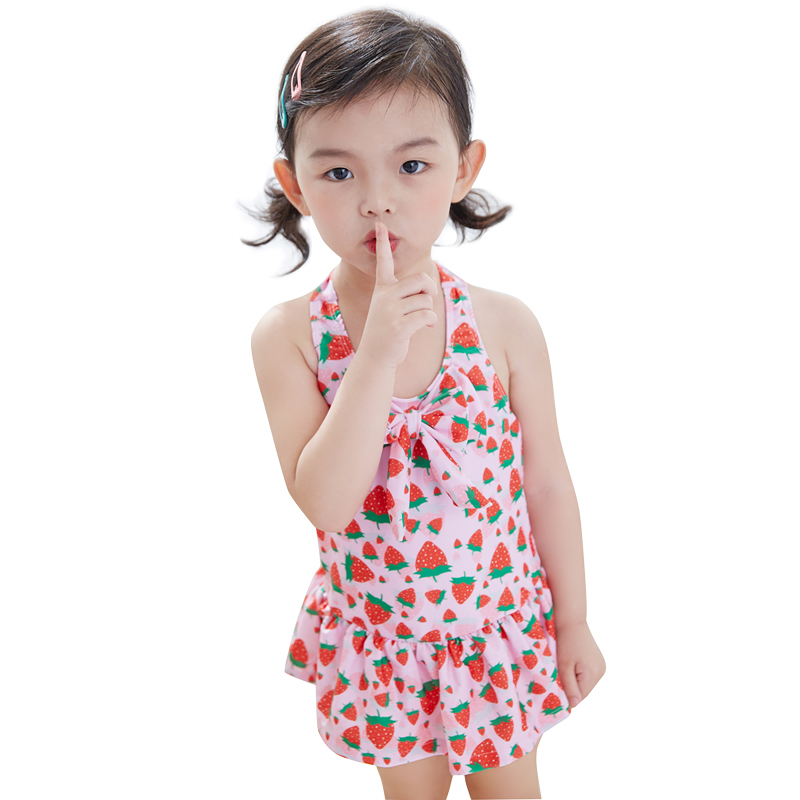 c04b2f22f0977 Children swimsuit girl girls one-piece princess dress style 0-1-3-4-5-8-year -old baby 6 children's bathing suit