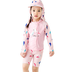 Children's swimwear girls girls baby middle-aged children split long-sleeved sunscreen 2-3-10 years old swimwear children's swimwear