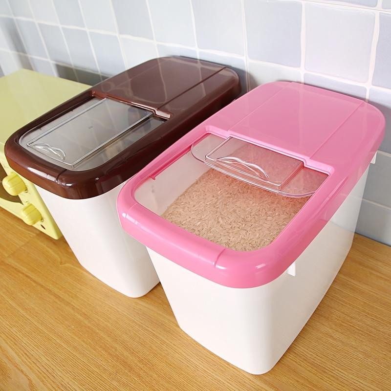 米桶塑料储米箱米缸面粉桶防虫防潮加带盖