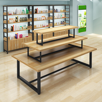 Three-storey water station supermarket central island Shelf high and low jewelry display table