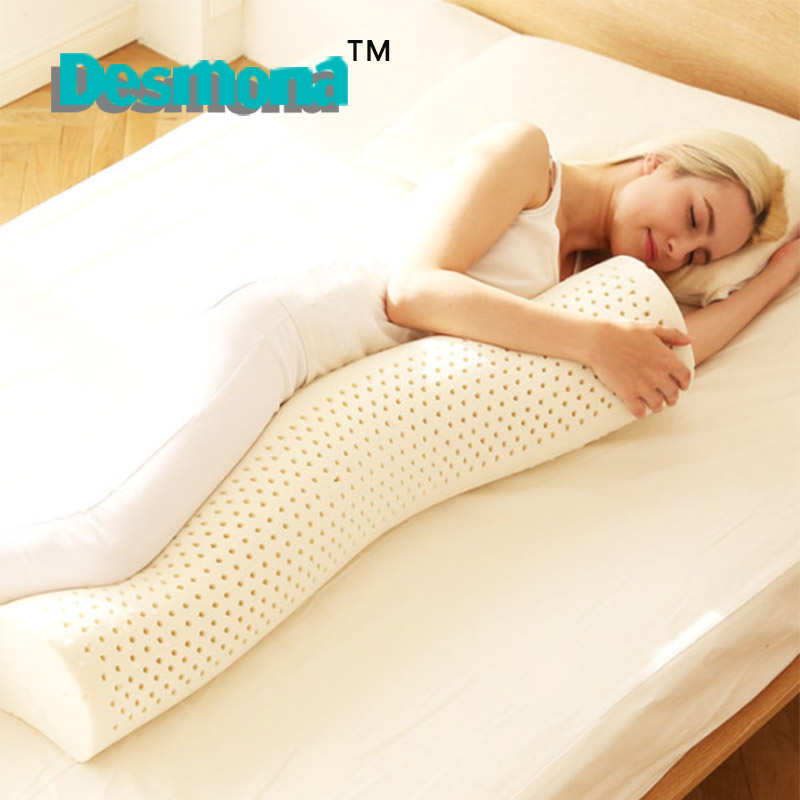 Thai latex cylindrical pillow large long pillow candy pillow male and  female friends sleep pillow bed 66c3f7039