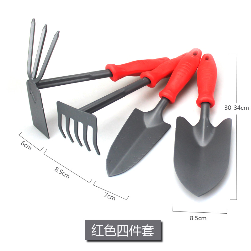 Красный лопата 4 предмета