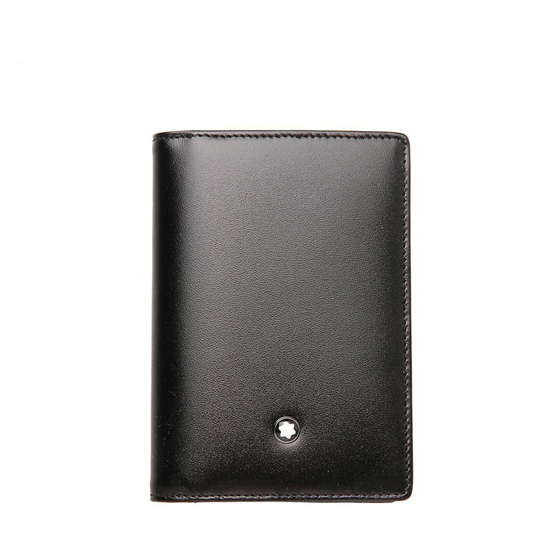 montblanc montblanc mens taipan leather double card holder card package 7167 wangfujing department store - Mont Blanc Card Holder