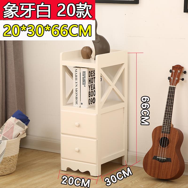 Phong cách châu Âu tủ đầu giường nhỏ tủ lưu trữ kẽ hở tủ gỗ bên tủ nhỏ ngăn kéo nhỏ 20CM phòng ngủ tủ nhỏ tủ hẹp - Buồng