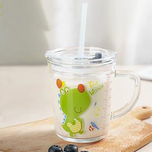 儿童刻度吸管杯水杯牛奶杯350ml
