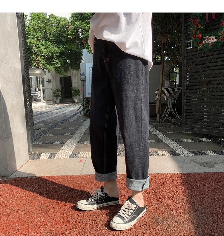 A408-K069* 春季上新潮流休闲百搭潮流直筒显瘦牛仔裤 P55-X68