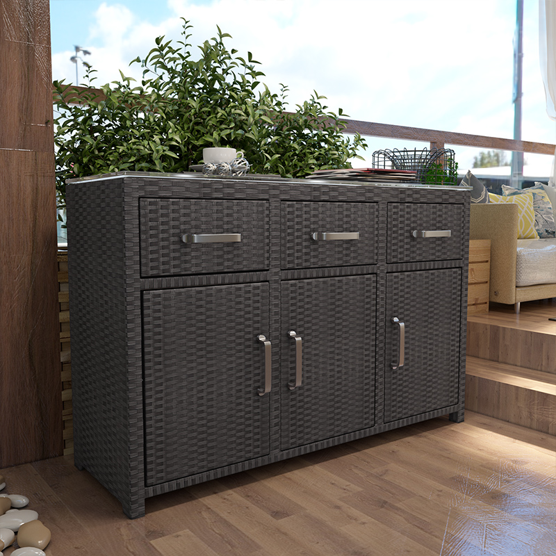 Outdoor shoe cabinet sunscreen waterproof courtyard
