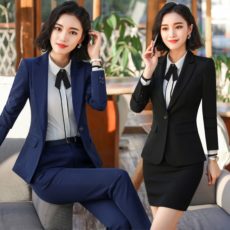 4bc3a7a2012 Hotel work clothes female suit 2018 new manager suit professional wear  women s temperament tooling student interview