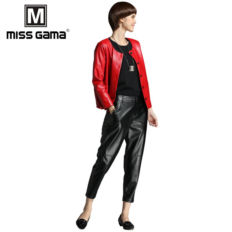 大码时尚女装2017冬装新款PU皮外套两件套时尚休闲阔腿裤套装女潮