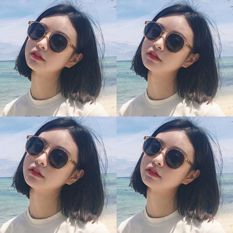 Ульцанг глаз зеркало женщина корейская версия волна винтаж Harajuku 2018 новая коллекция чернила зеркало Круглые сети красный Уличное солнце зеркало ins