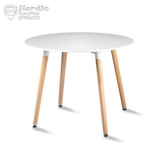 实木腿圆桌1米日式餐桌椅组合洽谈桌现代简约吃饭桌欧式网红桌子