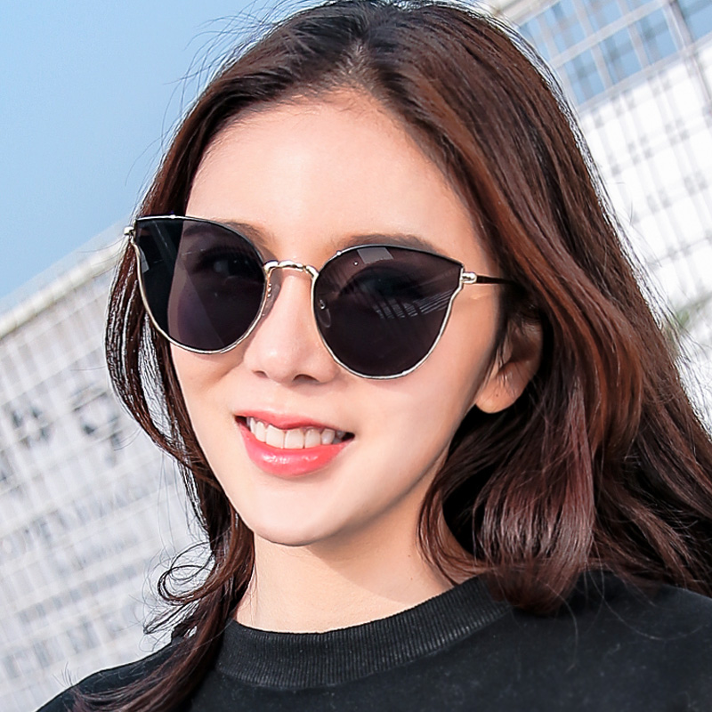 ca6a3435c9 2018 New net red sunglasses female tide retro temperament sunglasses female  long round face personality Korean · Zoom · lightbox moreview · lightbox ...