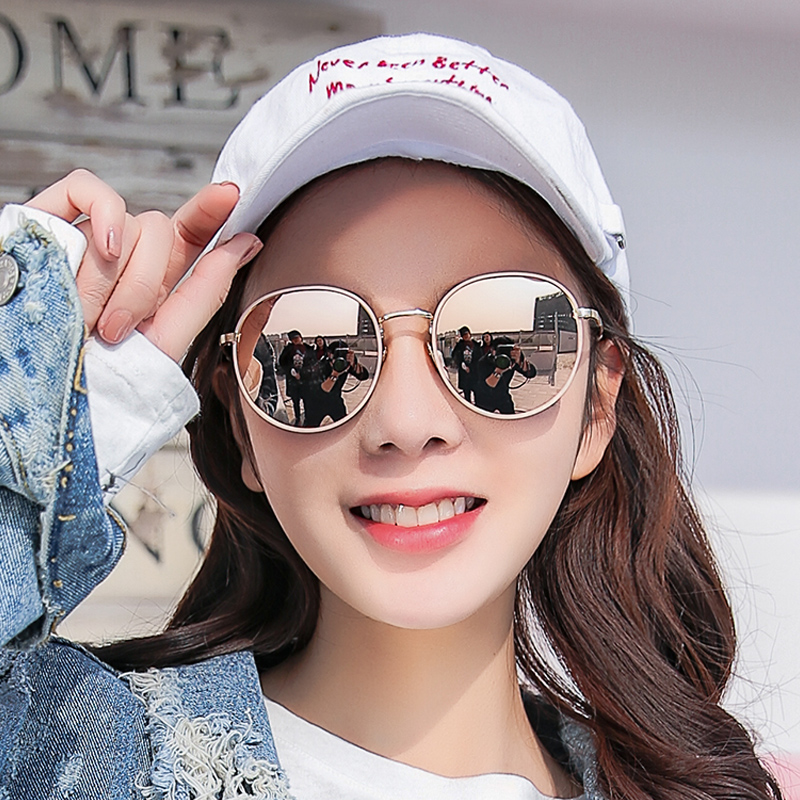 5599971128 2018 new sunglasses female round face Korean version of the tide polarized  sunglasses ins anti- ...