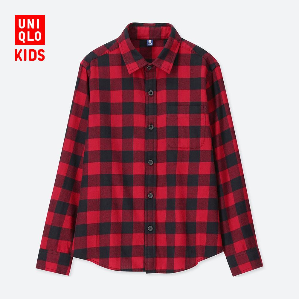 童装/男童 法兰绒格子衬衫(长袖)  412038 优衣库UNIQLO