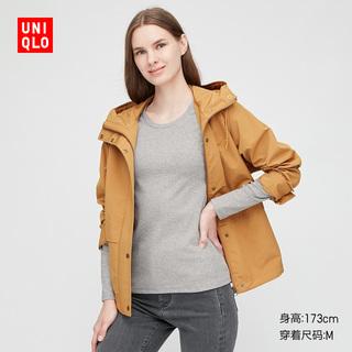 Майки, топы,  Отлично одежда склад женщины растянуть хлопка качество круглый вырез T футболки ( длинный рукав ) 428307 UNIQLO, цена 1210 руб