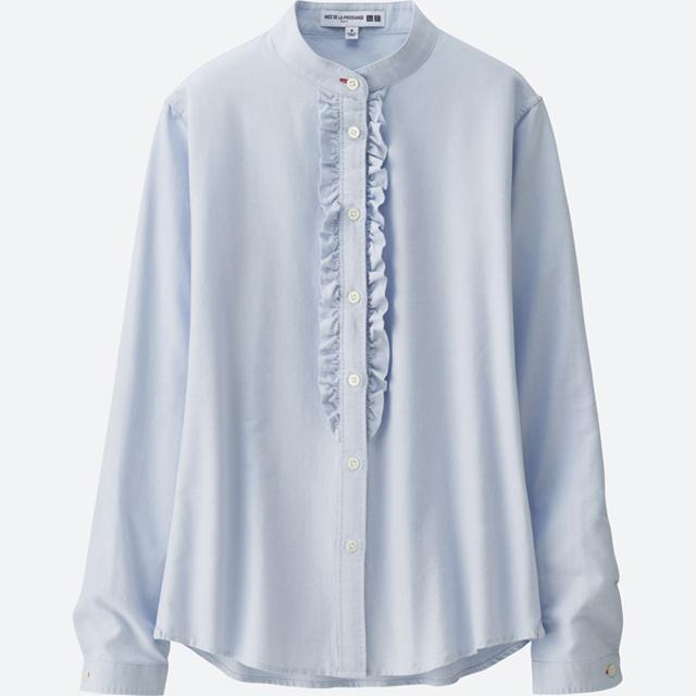 女装IDLF牛津纺荷叶边衬衫(长袖)