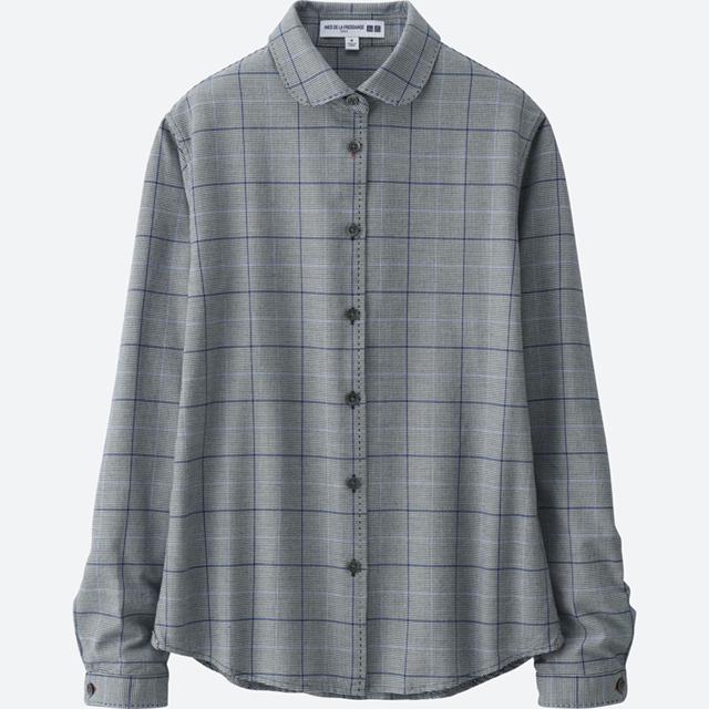 女装IDLF牛津纺格子衬衫(长袖)