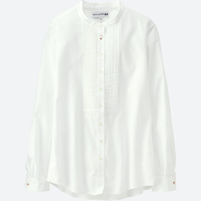 女装IDLF全棉斜纹打褶衬衫(长袖)