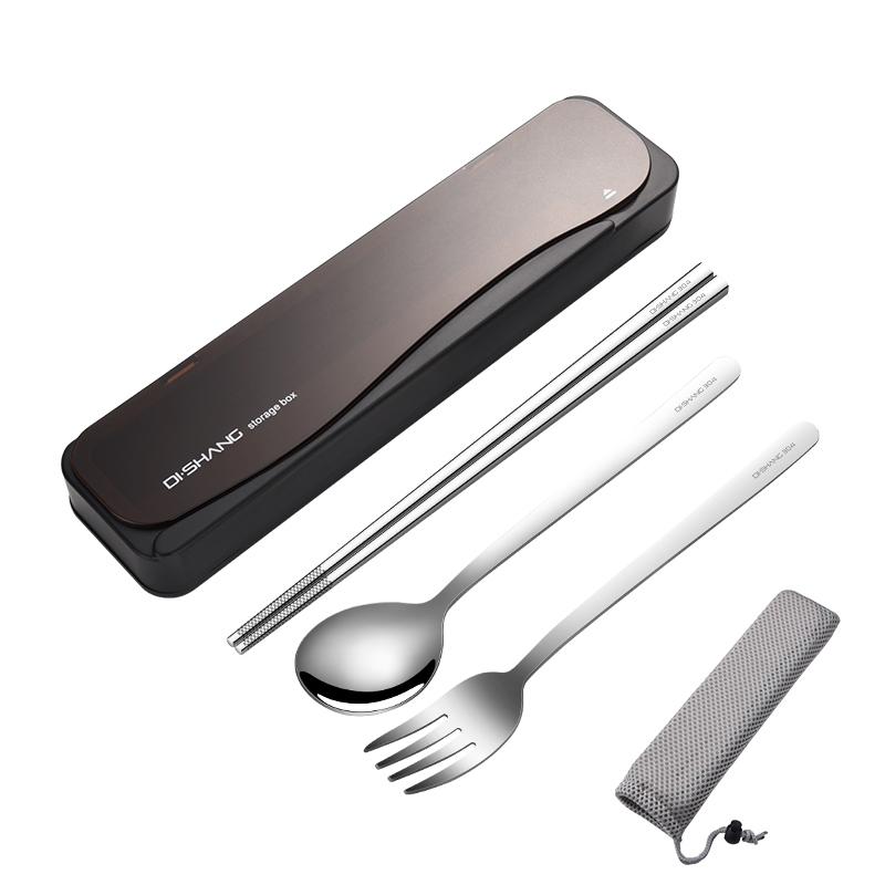 Через классический черный - Бен стальные палочки для еды вилка
