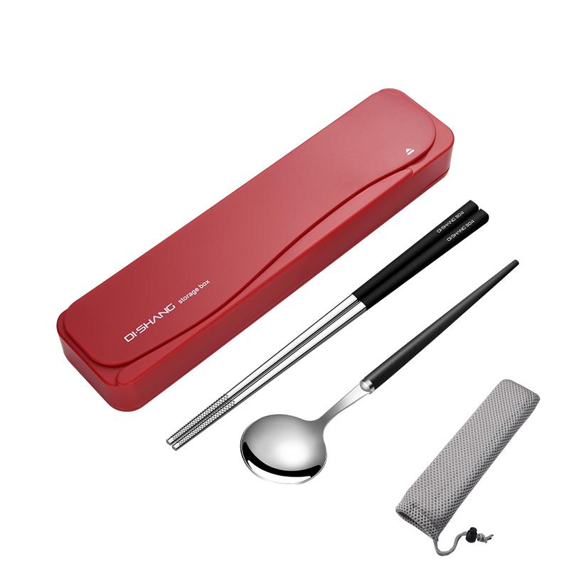 Красный Коробка - Бен Сталь черный Палочки для еды португальская ложка