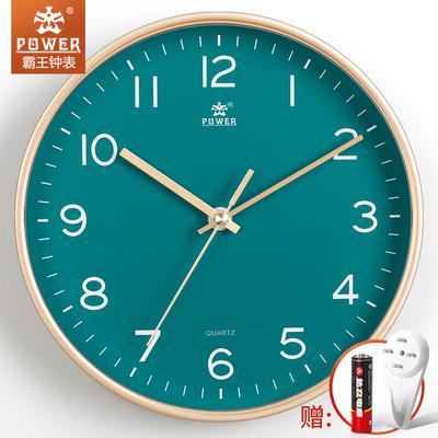 霸王家用静音挂钟创意简约时钟挂墙钟表客厅卧室石英钟北欧风挂表