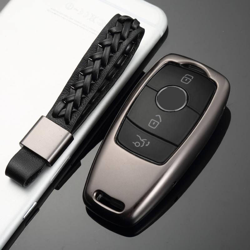 奔驰新E级钥匙包E300L E200L E320L钥匙壳扣套铝合金男女士s320L