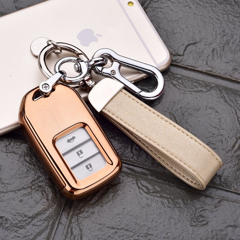 Honda All-inclusive Key Set [local Gold Single Shell + Gold Double Buckle]