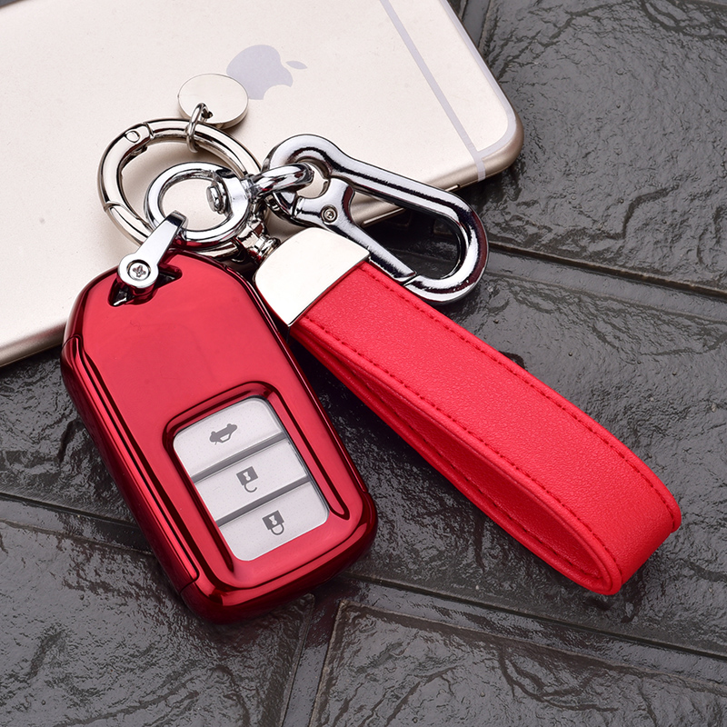 Honda All-inclusive Key Set [chinese Red Single Shell + Red Double Buckle]