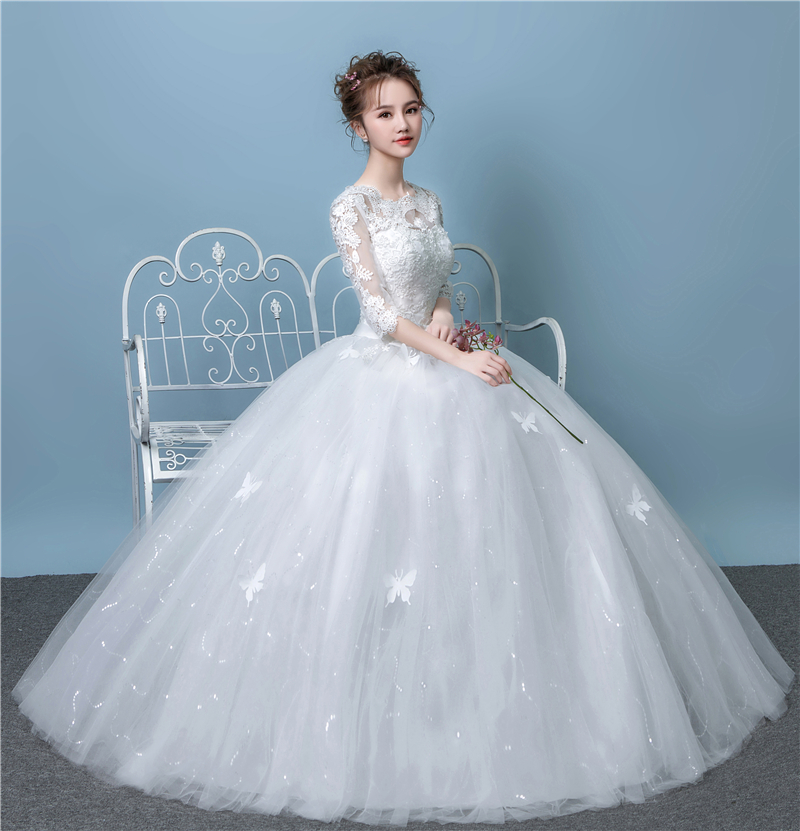 USD 37.07] Light Sen wedding dress 2018 new Korean-style pregnant ...