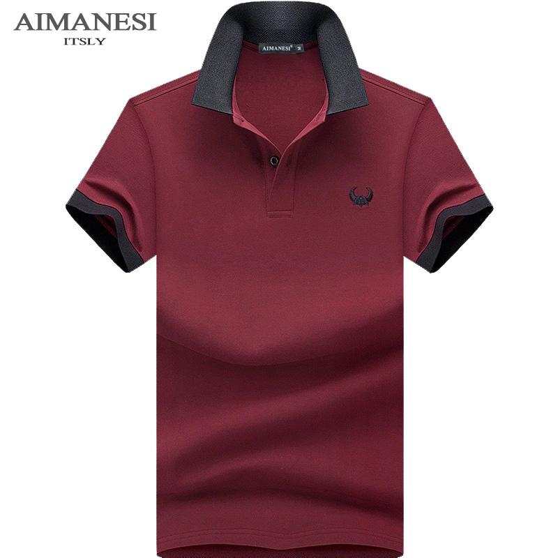 7f9957c4fb82 Summer new short-sleeved T-shirt men s solid color fashion compassionate  Korean lapel POLO shirt men s clothing