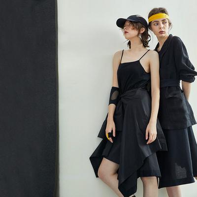 日着原创设计女装2020年夏季新款 性感吊带裙子a字连衣裙女夏