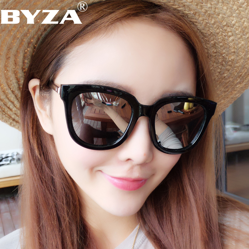 fd63acd2a9 2019 New polarized sunglasses round face ladies sunglasses Korean star tide  male personality big frame myopia glasses