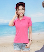 Womens Polo shirt custom t-shirt embroidery Print Logo