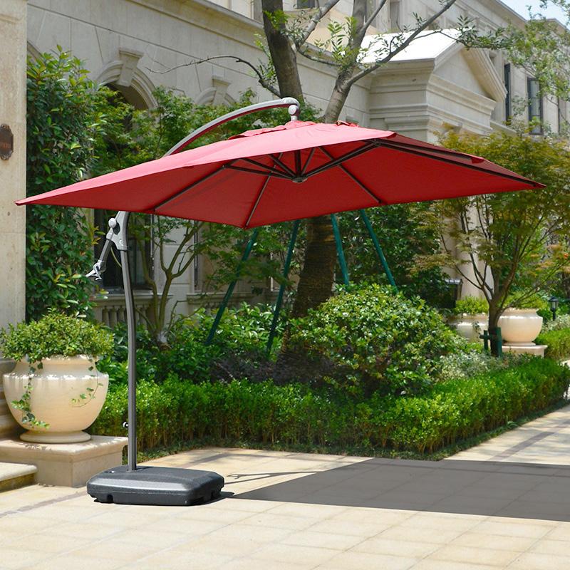 Цвет: Площадь нажима руки зонтик вина красный с основанием воды