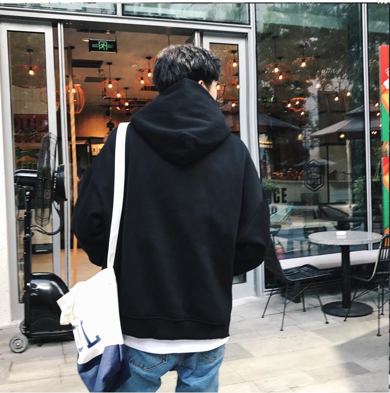 秋装港风情侣中性大码原创日系原宿风卫衣男潮外套7008P68(控88