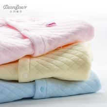 婴儿保暖连体衣服夹棉春秋装