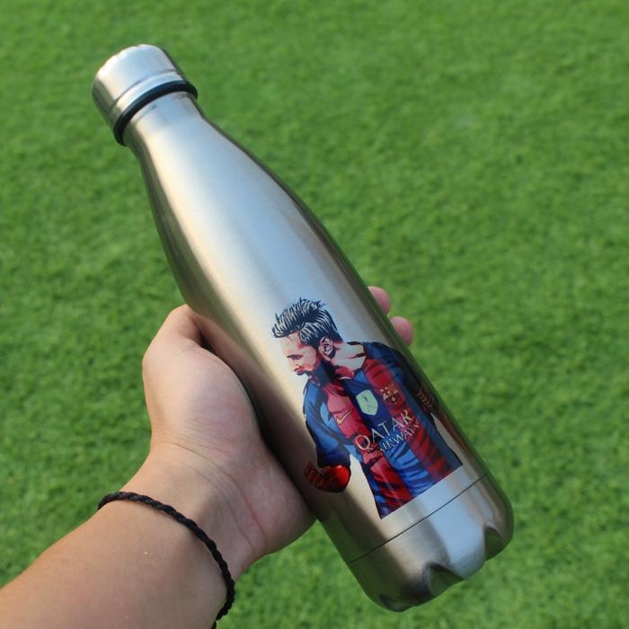Новые товары футбол вентилятор термос кружка месси c рой ткань периферия чашки ребенок может музыка бутылка творческий подарок послать друзьям