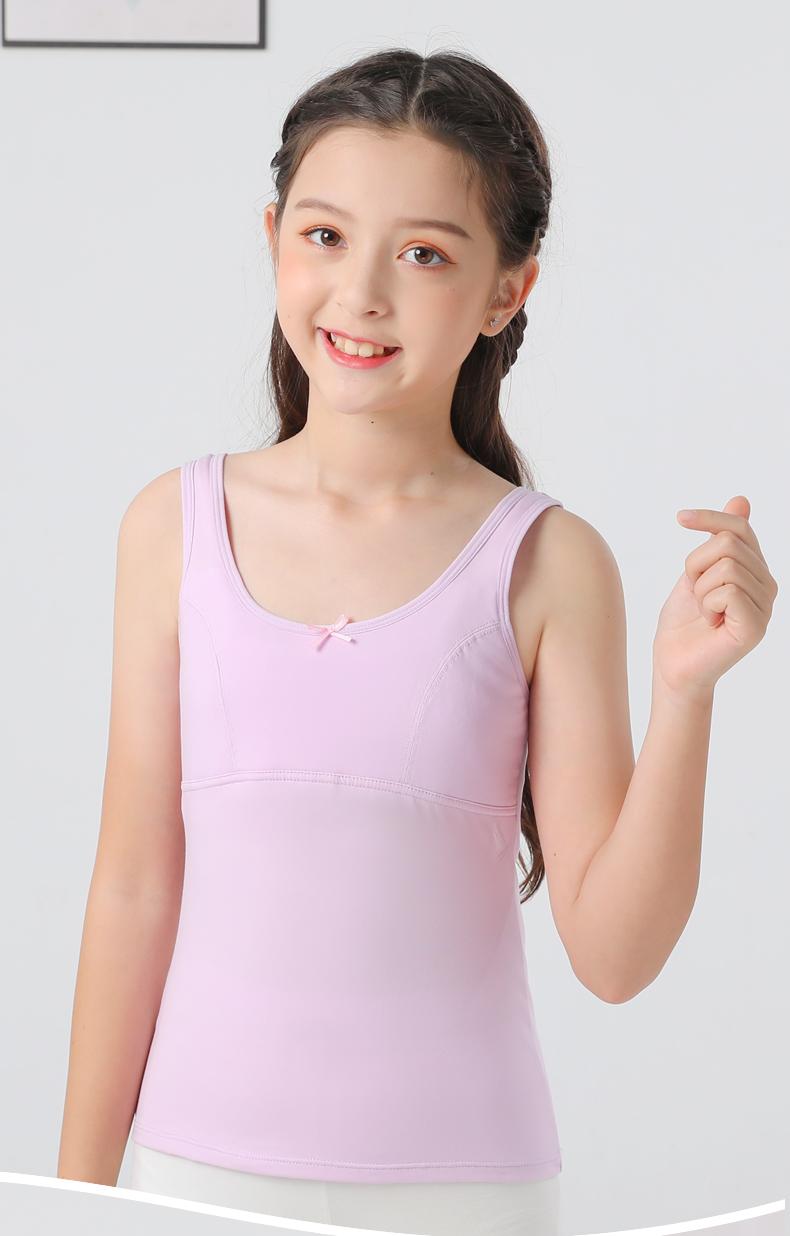 女童儿童内衣背心女发育期纯棉小学生女生青春小背心大童少女文胸详细照片
