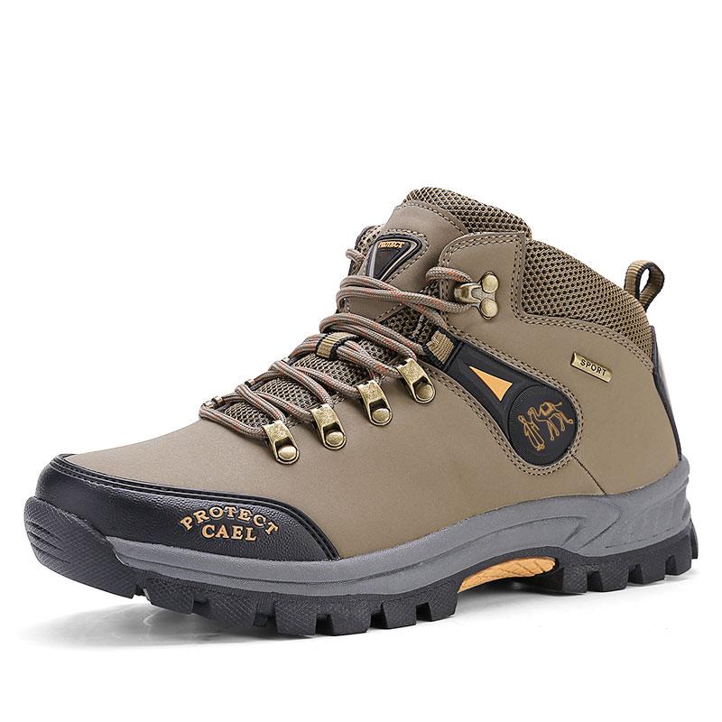 新款高帮男士户外登山鞋防水防滑休闲旅游保暖鞋软底耐磨运动鞋子