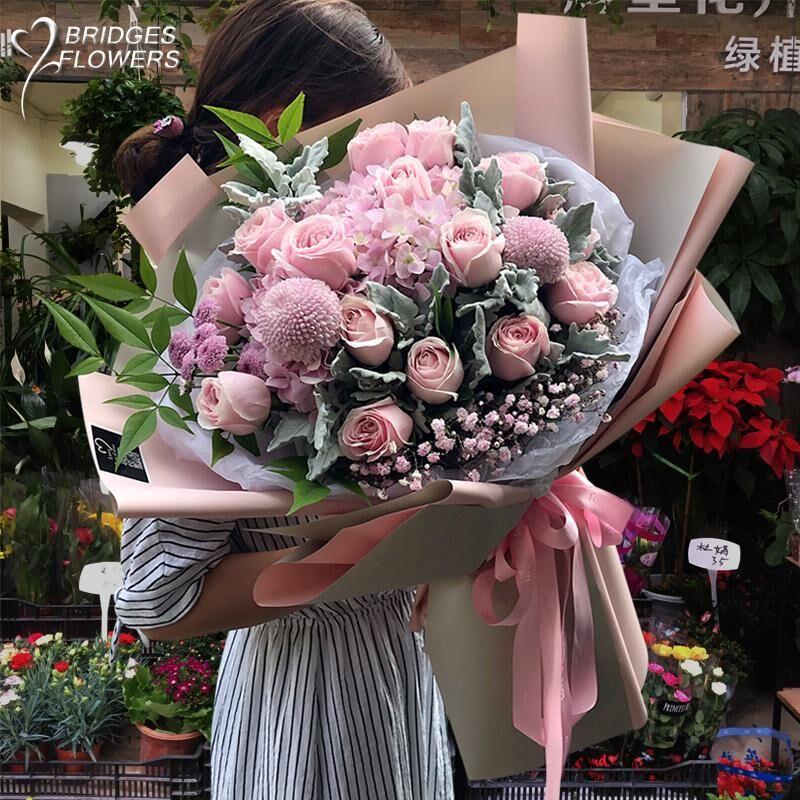 教师节厦门鲜花同城速递玫瑰花束爱人表白生日祝福送花泉州漳州