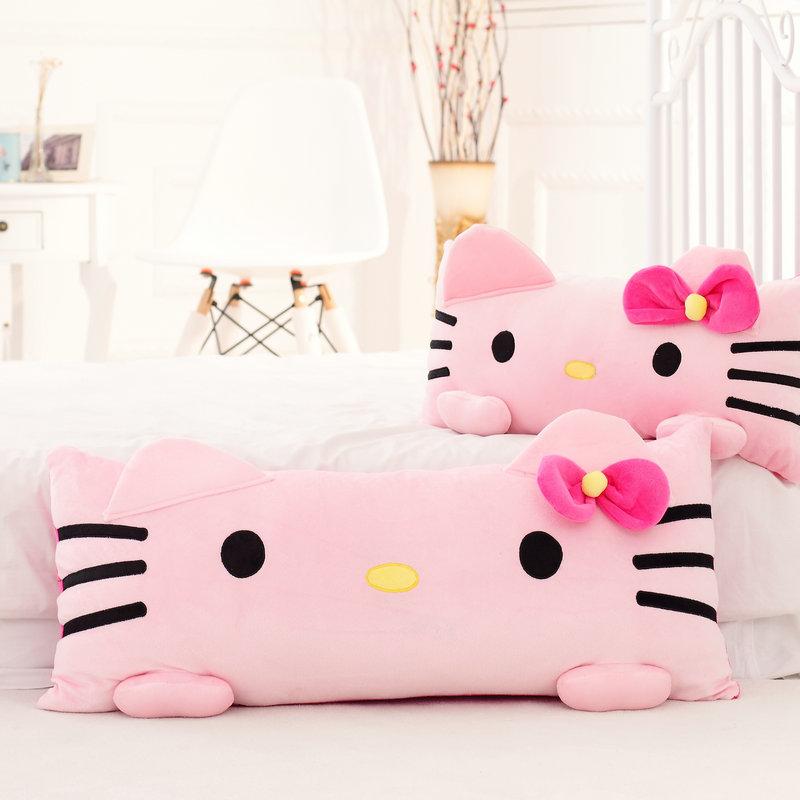 HelloKitty抱枕凯蒂猫创意毛绒玩具KT猫单人礼物双人枕公仔枕头
