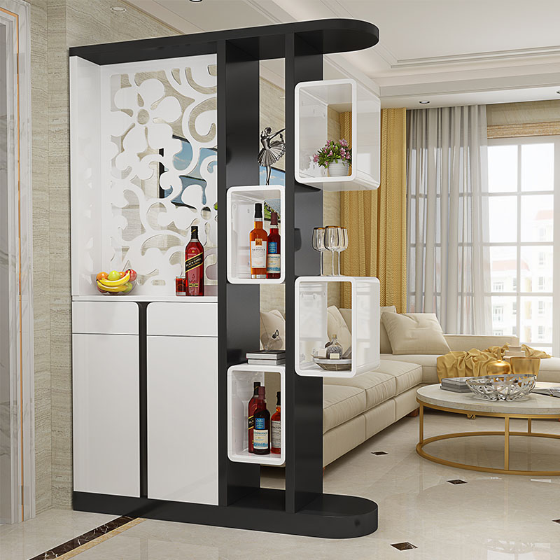 Entrance Of The Living Room Porch Cabinet Bar Partition Cabinet Two Sided Cabinet  Cabinet Shoe