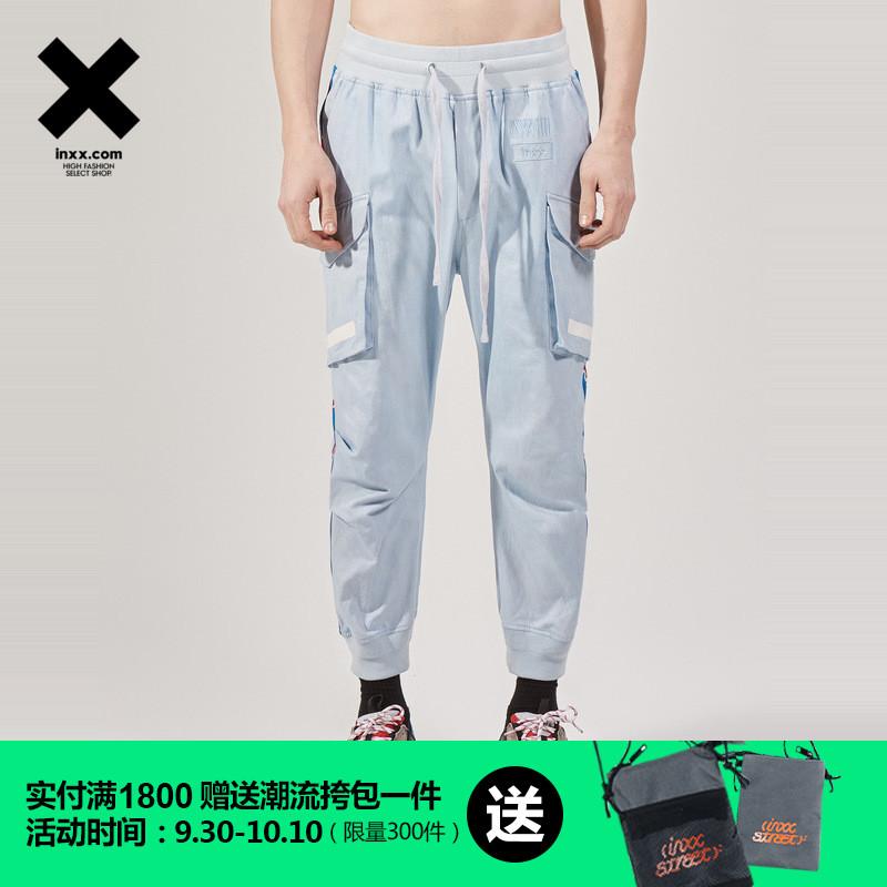 GAI周延明星同款潮牌時尚大口袋設計休閑褲情侶裝