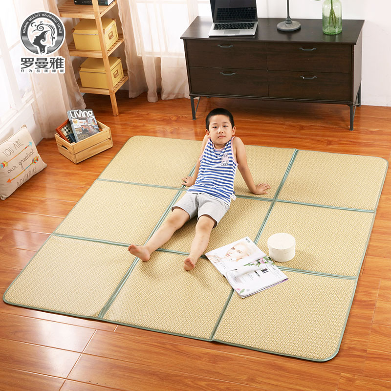 USD 27.23] Romaniya folding tatami rattan mat mats living room ...