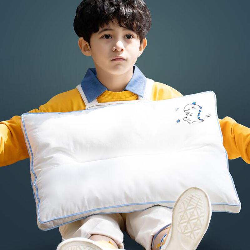 水星家纺儿童枕头6岁以上小学生单人枕A类宝宝枕芯可水洗防螨枕头