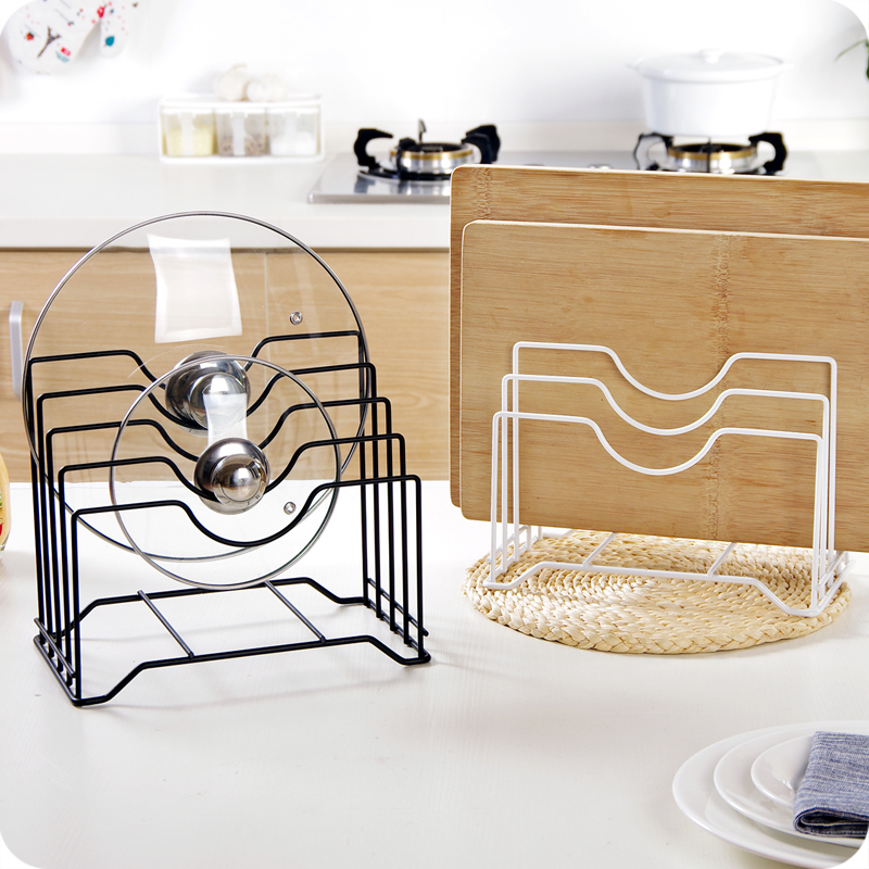 Multifunction wrought iron pot rack multi-layer shelf put on the lid rack kitchen chopping  sc 1 st  ChinaHao.com & USD 6.91] Multifunction wrought iron pot rack multi-layer shelf put ...