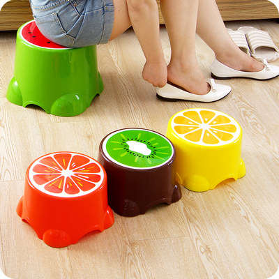 Yousshouse Cute Fruit Children S Stool Creative Plastic