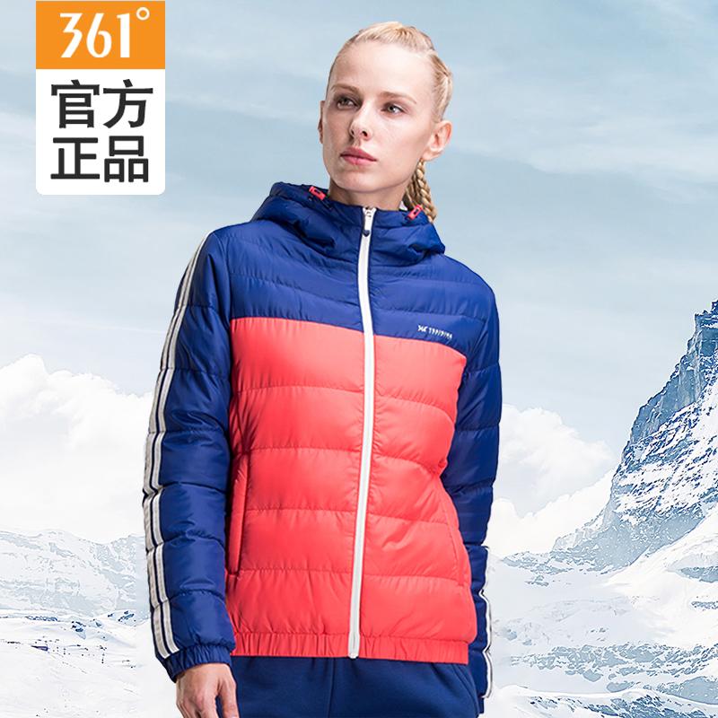 361棉服女冬季运动外套学生加厚保暖连帽短款361度女装正品女棉服